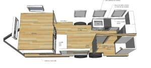 Ana White Tiny House Plattegrond
