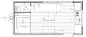 Minim Tiny House Plattegrond
