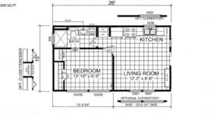 Tiny House Plattegrond A-522